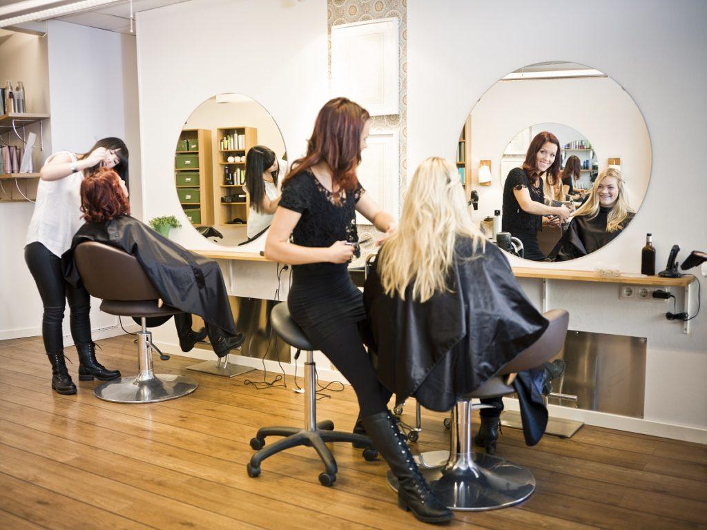 people in salon