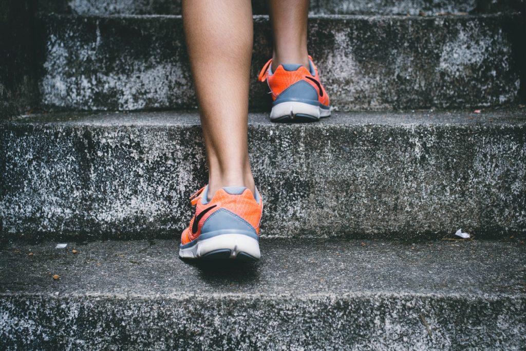 Running on stairs