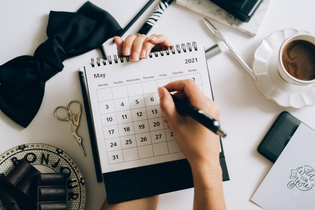 person with a calendar